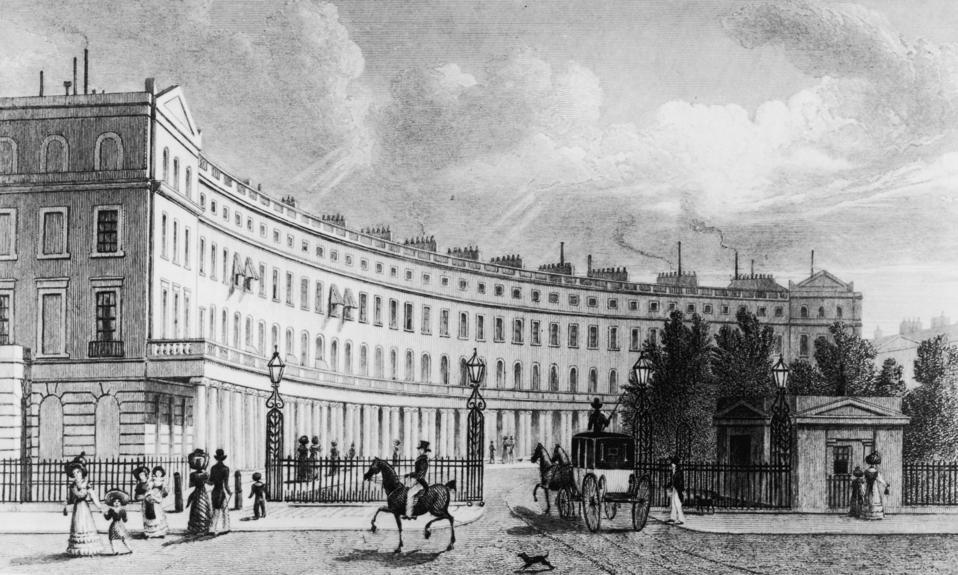Park Crescent an example of John Nash' work
