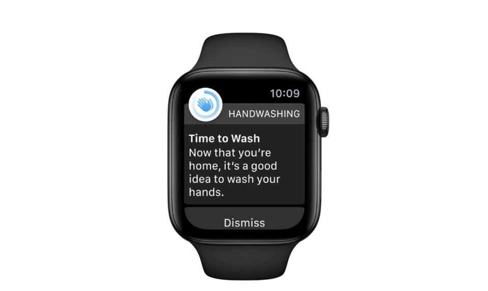 The watchOS 7 Handwashing feature can even remind you to wash your hands when you get home.