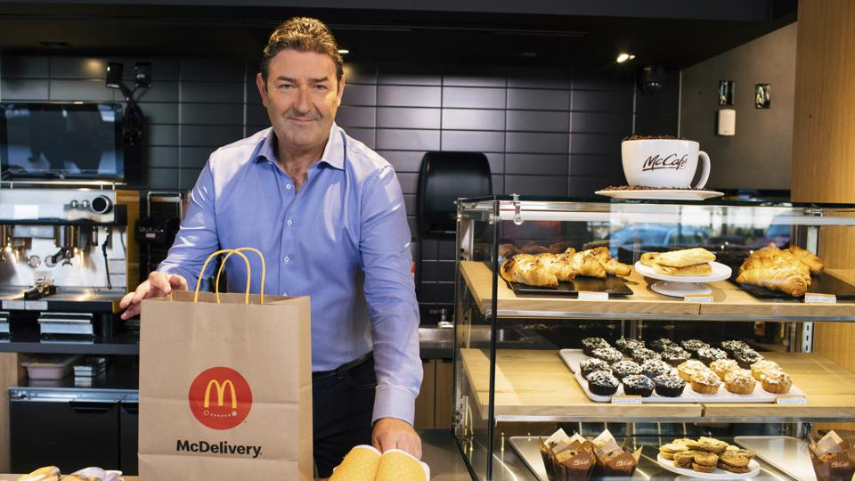 McDonald's CEO Steve Easterbrook Celebrates McDelivery Night In