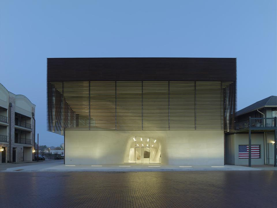 This is the Louisiana State Museum and Sports Hall of Fame: Facade designed by Trahan Architects.