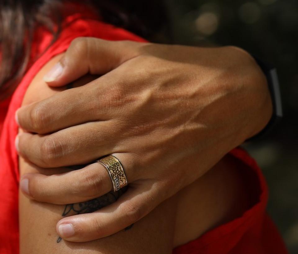 Reunited with the keepsake wedding ring