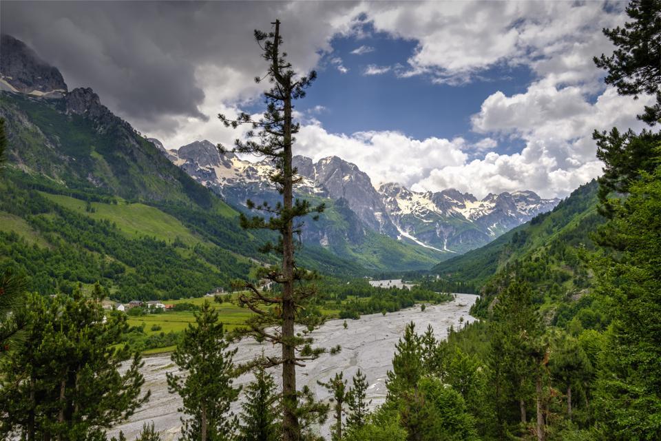 Albania, Kukes County, Albanian Alps, Valbona National Park, Valbona Valley, Valbona river