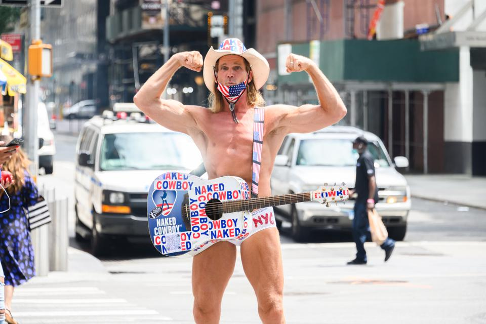 The Naked Cowboy, in Times Square