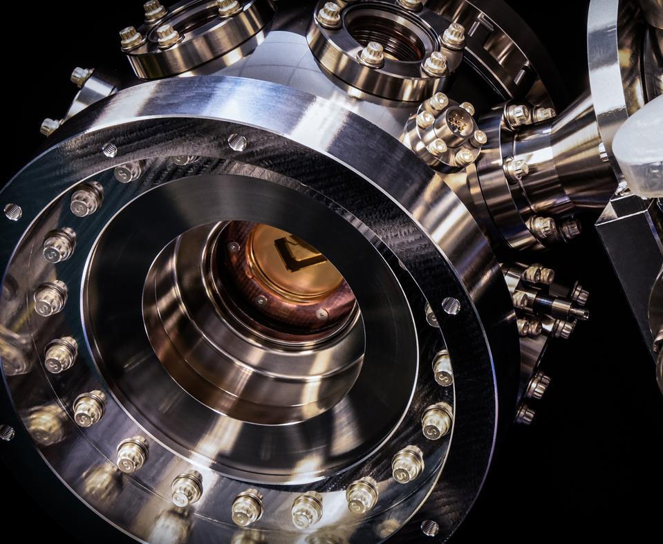 Inside the chamber of Honeywell's quantum computer