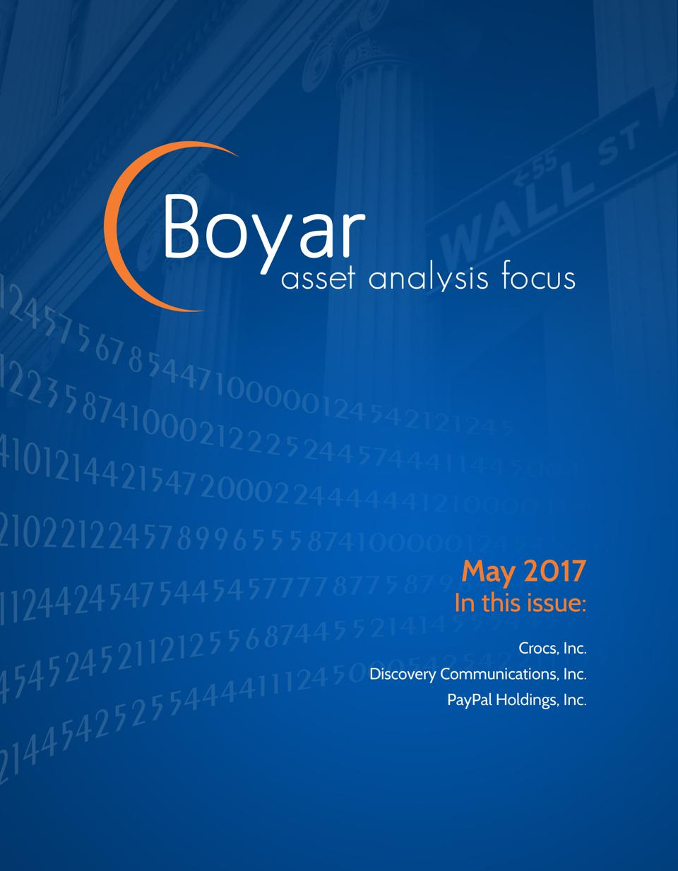 May 2017 Boyar Research Report Featuring PayPal