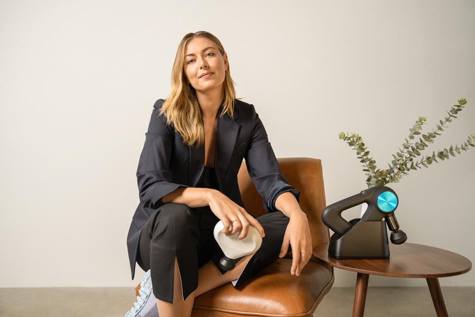 Maria Sharapova, not only invested in Therabody but also serves on the advisory board