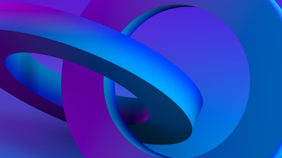 3D Abstract Sculptural Geometric Shapes Background