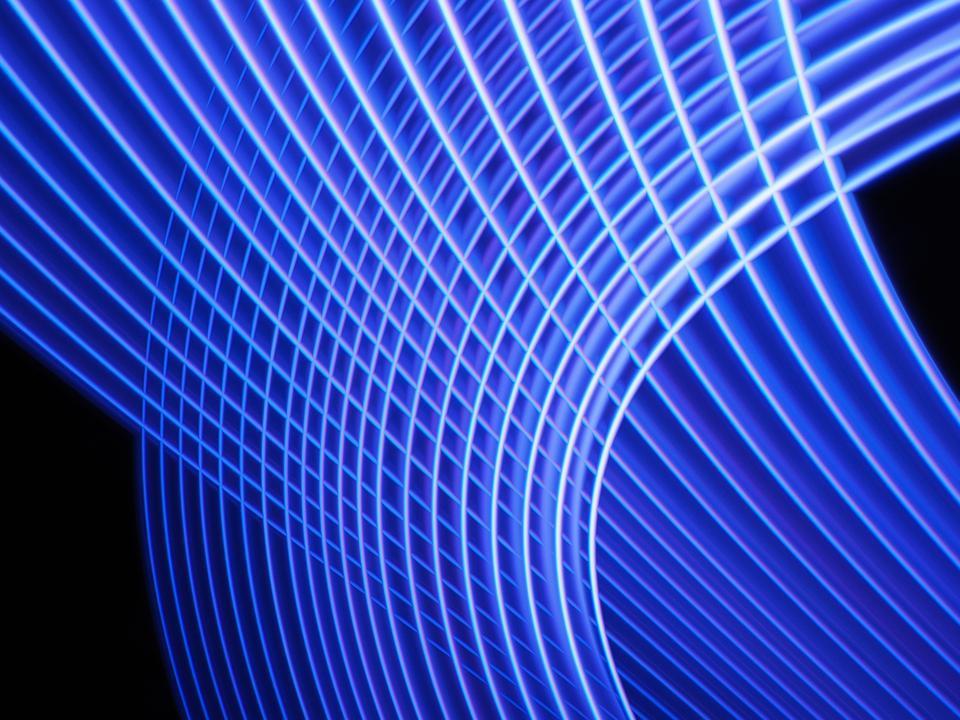 Futuristic blue net. Virtual environment. 3D.
