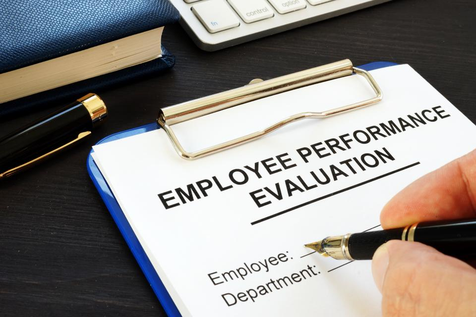 Clipboard with employee performance evaluation for diversity and inclusion