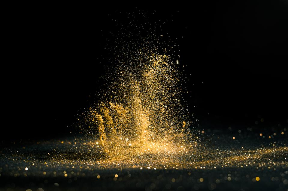 Close-Up Of Glitter In Mid-Air