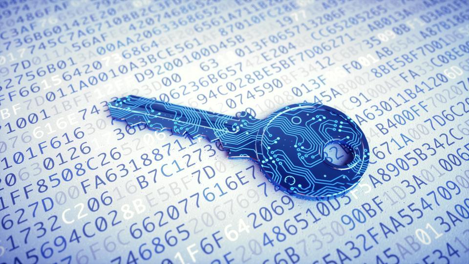 Digital key macro on encrypted data