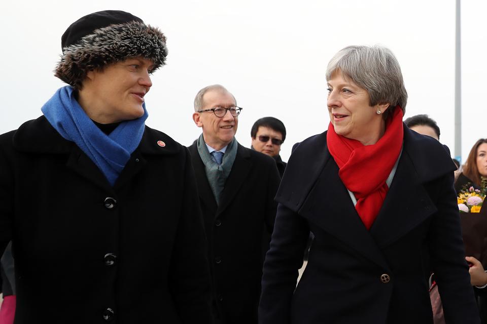 British Prime Minister China Visit - Day One