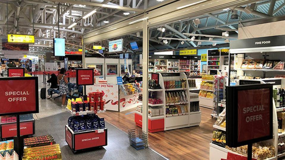 Lagardère Travel Retail duty-free store at Sardinia's Cagliari Elmas Airport.