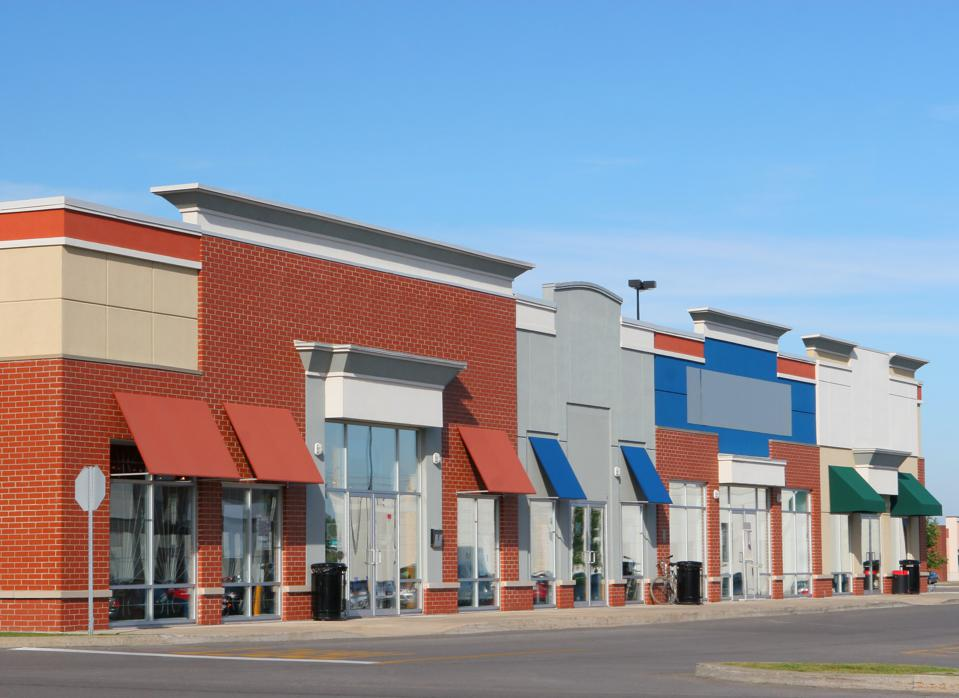 Modern Strip Mall Building Exteriors