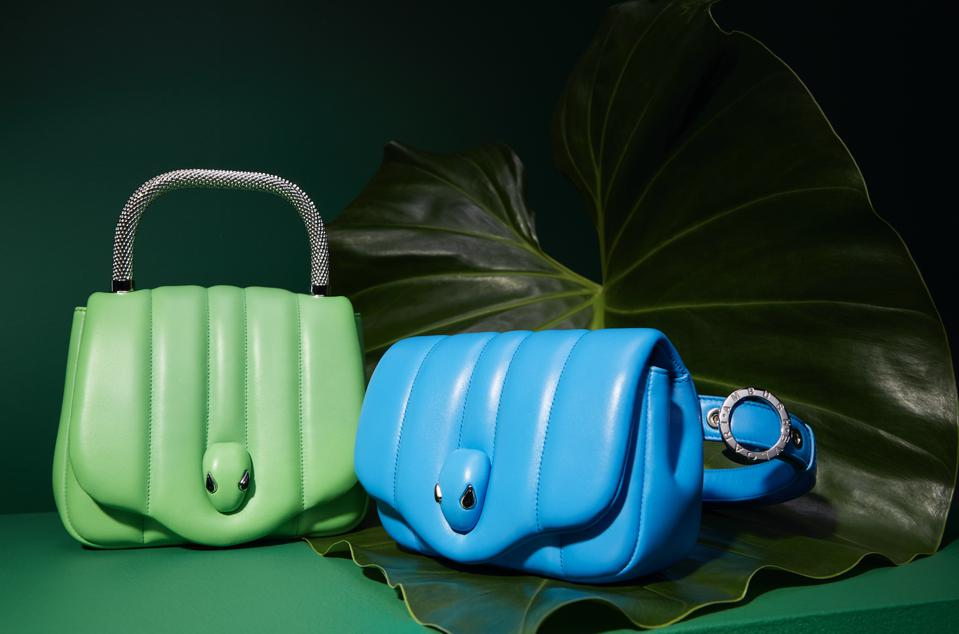 Two Serpenti bags from the Ambush x Bvlgari collection