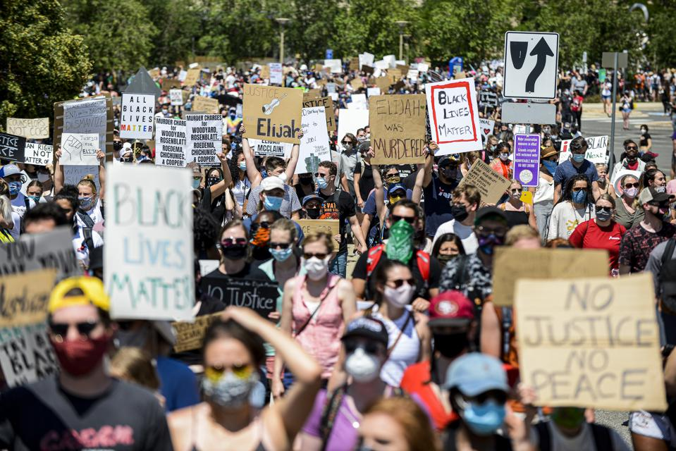 Rally Held In Colorado Demanding Justice For Elijah McClain