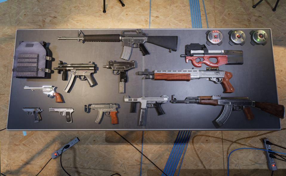The weapons of GoldenEye as rendered in upcoming game Spies Don't Die