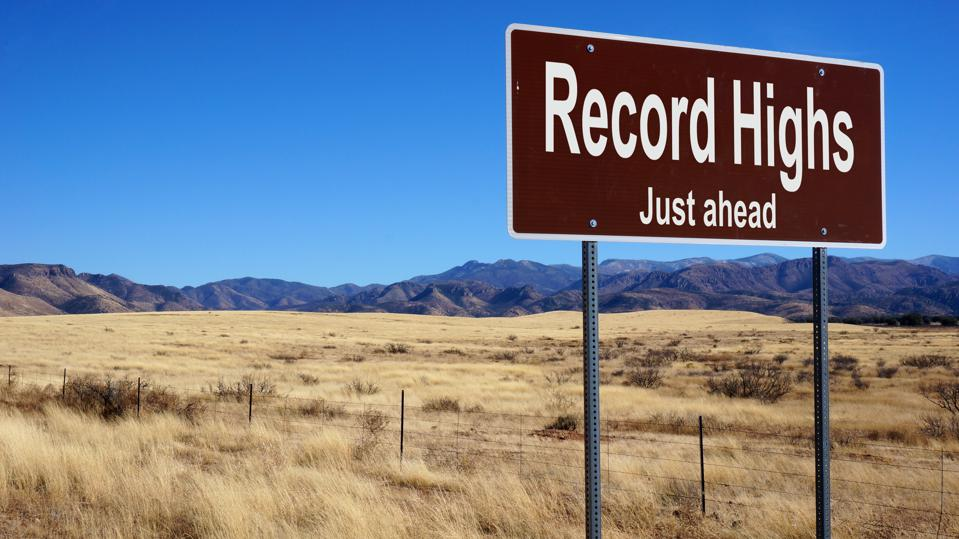 Record Highs road sign
