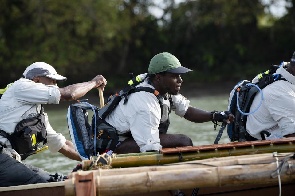 image shows a team competing in World's Toughest Race: Eco-Challenge Fiji