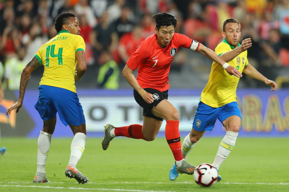 Son Heung-min during Brazil v Korea Republic - International Friendly
