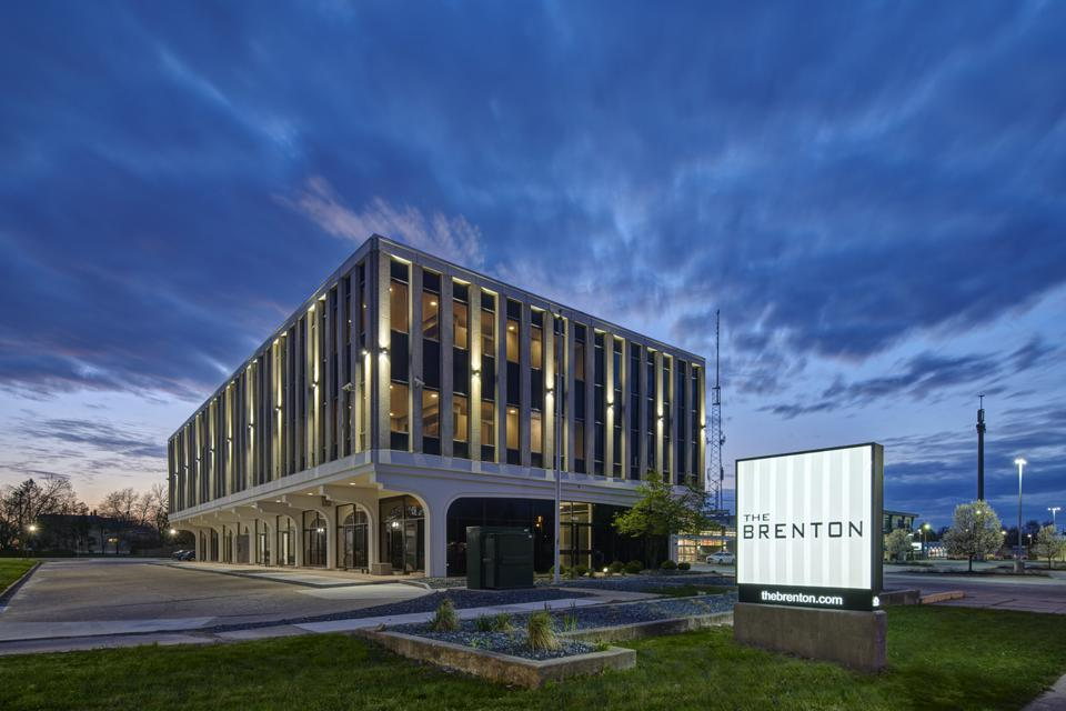 Exterior of Brenton housing project.
