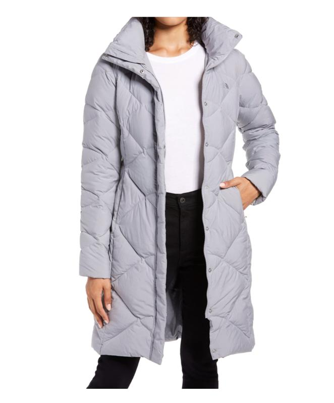 Mid grey parka the north face