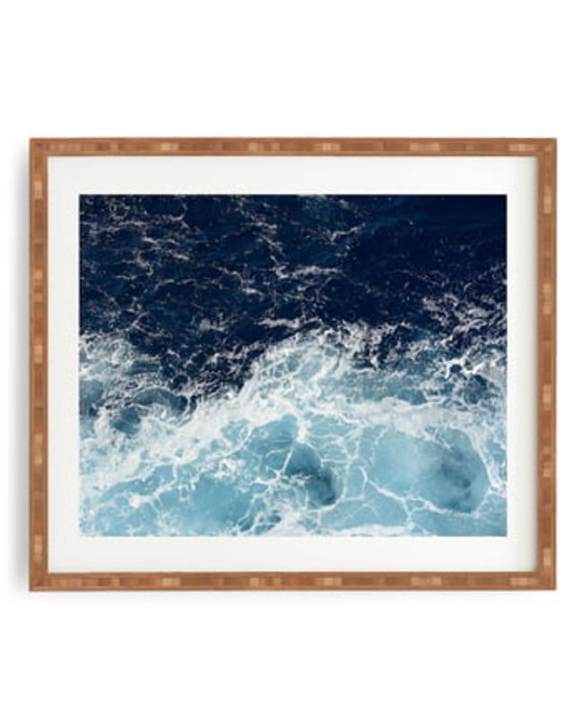 Deny Designs Sea Swish Framed Wall Art