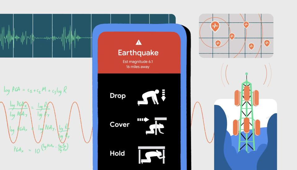 The Earthquake alert warning that will start appearing on Android phones.