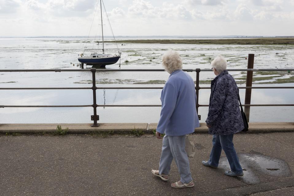 Elderly Ladies And Thames Estuary