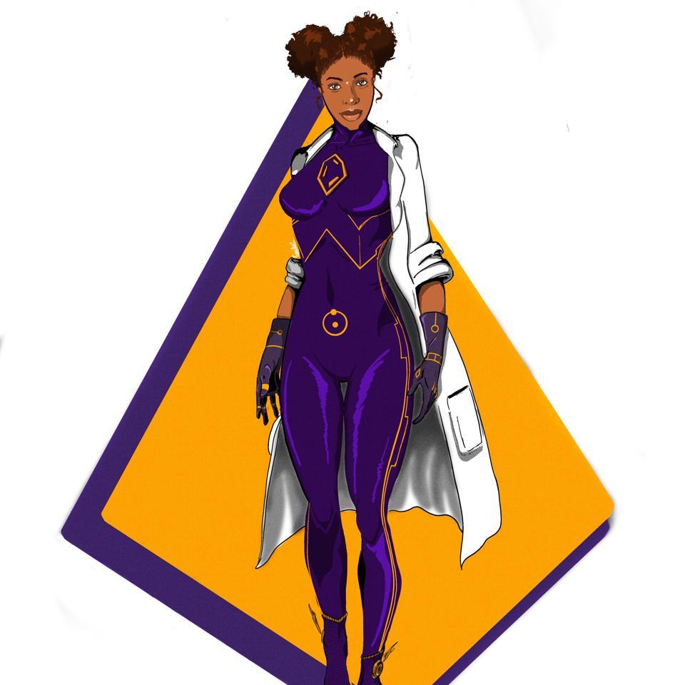 A science superhero developed by Zimbabwe-based graphic designer illustrator Allen Zvidzai