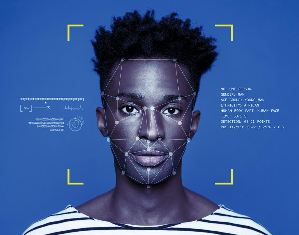 Facial Recognition Technology on black man
