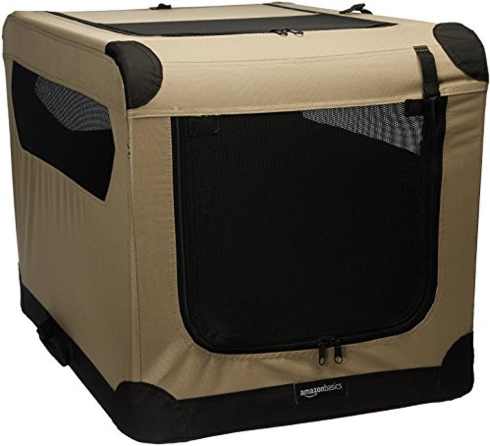 AmazonBasics Portable Folding Soft Dog Travel Crate