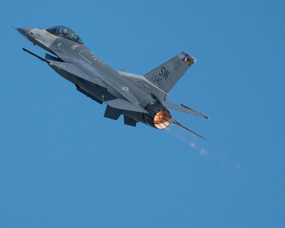 An F-16 from the 20th Fighter Wing at Shaw AFB, S.C.