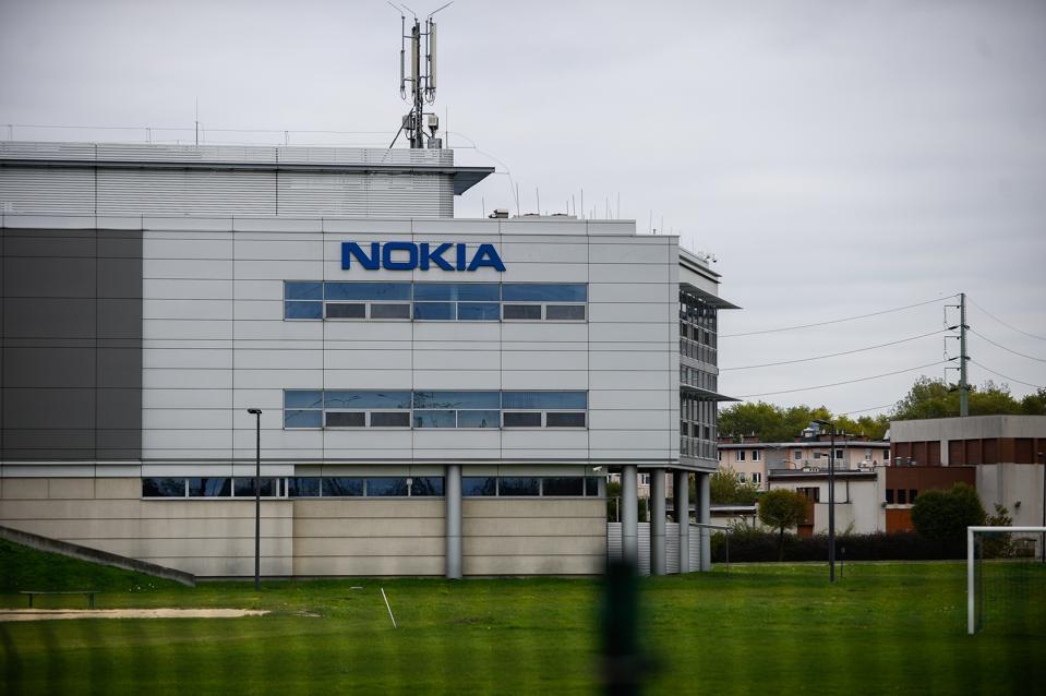 Nokia sign is seen at Czerwone Maki. Krakow is the second...