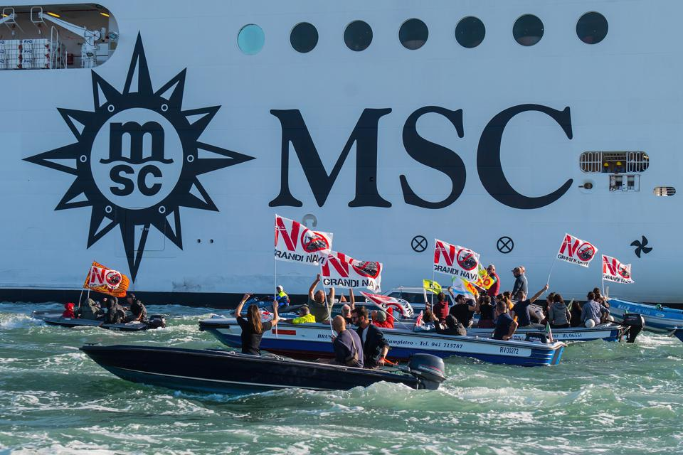 Venice Protest Against Big Cruise Ships