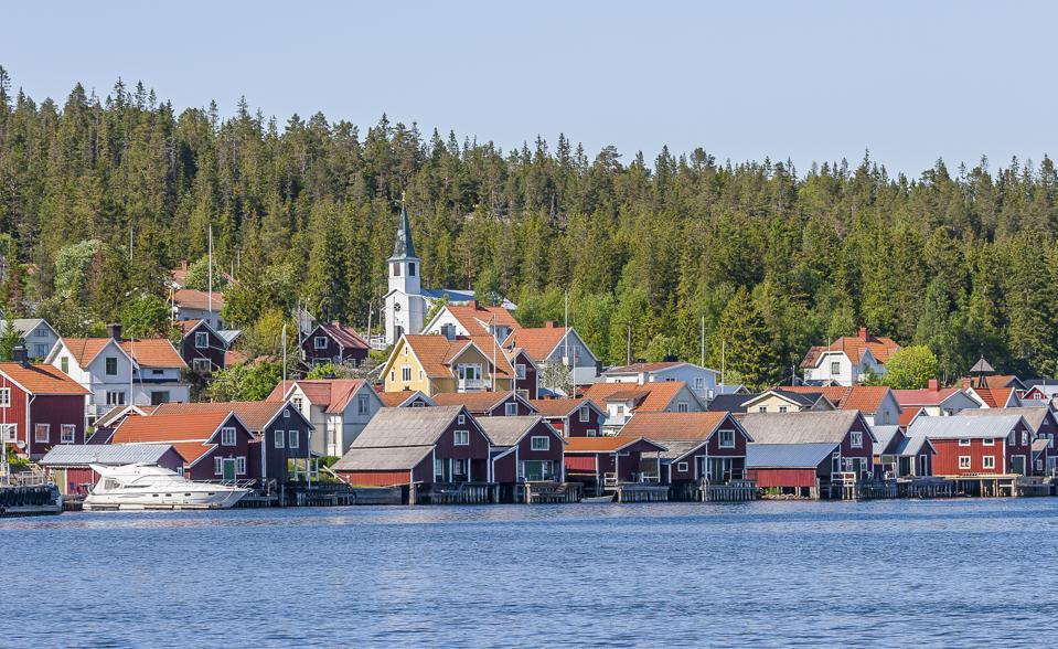 Ulvön fishing village on northern Sweden's High Coast road.