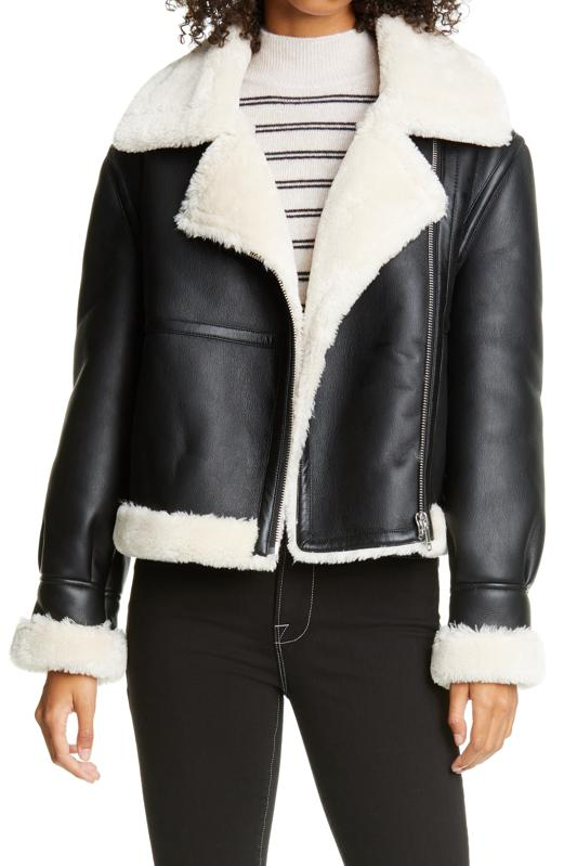 Frame Faux Shearling Jacket