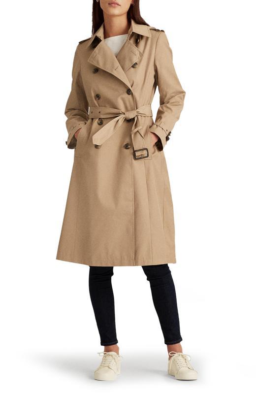 Lauren Ralph Lauren Double Breasted Long Hooded Trench Coat
