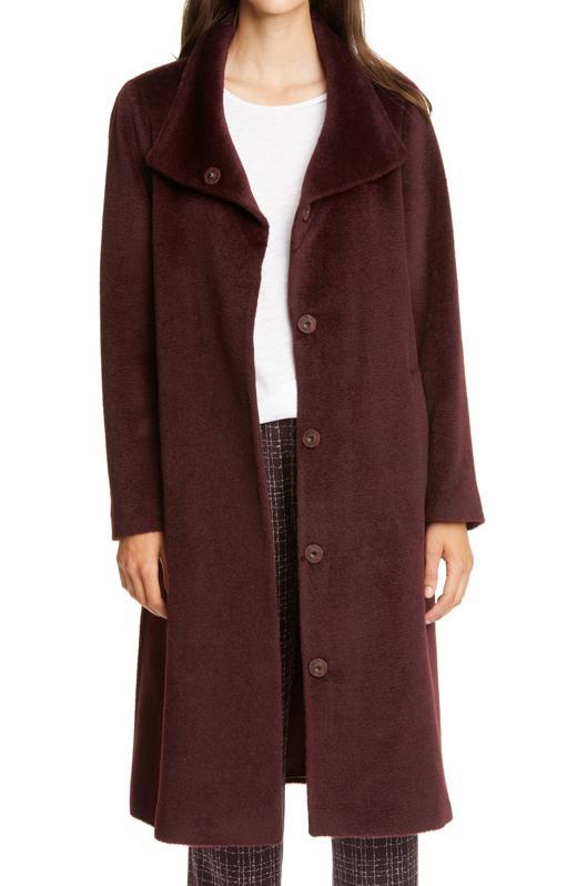 Eileen Fisher High Collar Coat