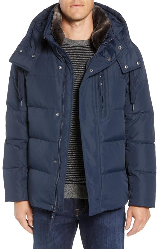 Marc New York Baltic Faux Trim Down & Feather Fill Parka