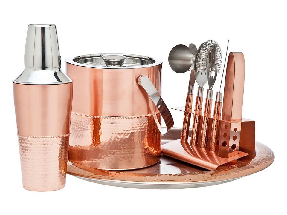 Godinger 9-Piece Copper Finish Bar Set
