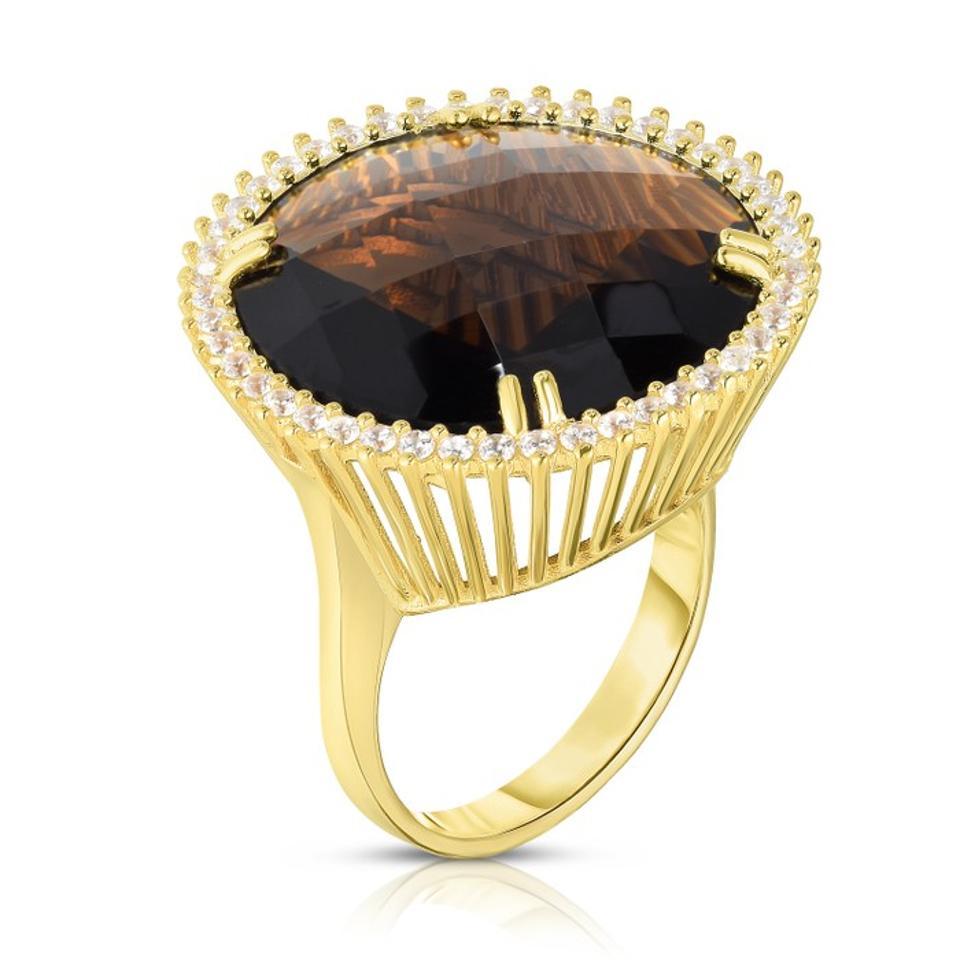 Cocktail Ring in Gold Smoke