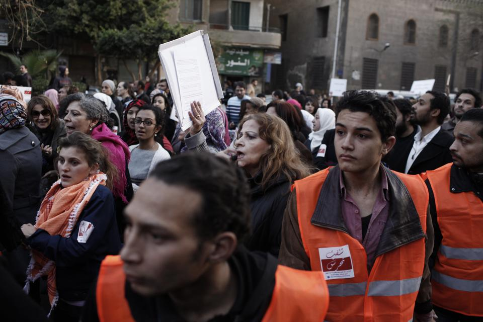 Egyptians March Against Sexual Harassment