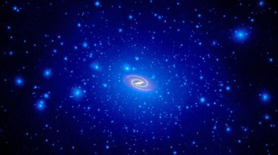 All galaxies should be embedded in a dark matter halo much larger than the visible galaxy.