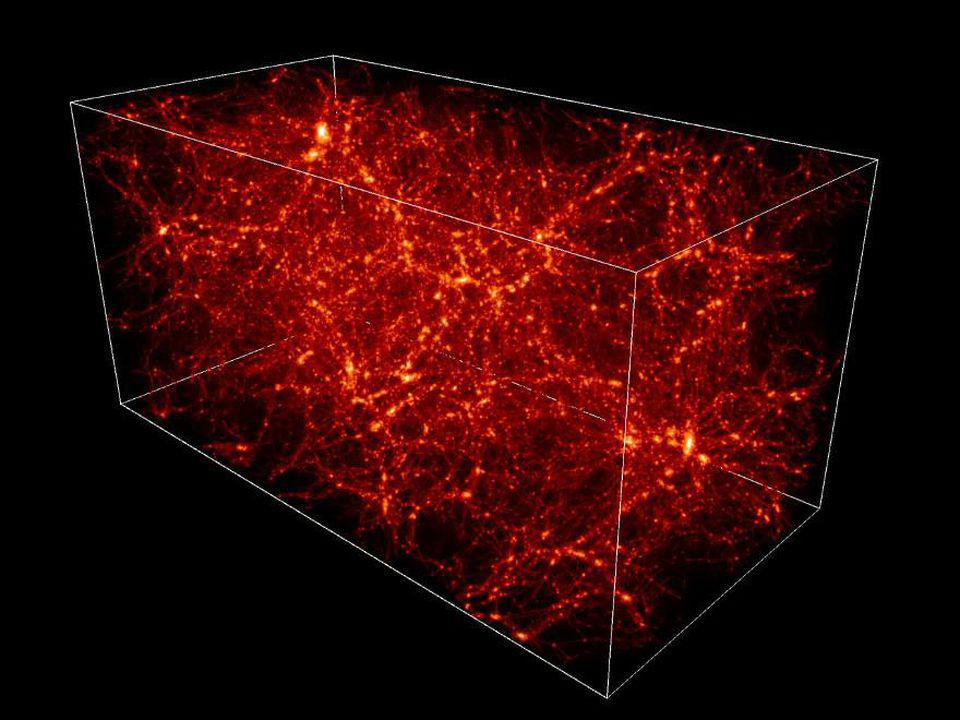The large-scale web of dark matter and normal matter that permeates the Universe.