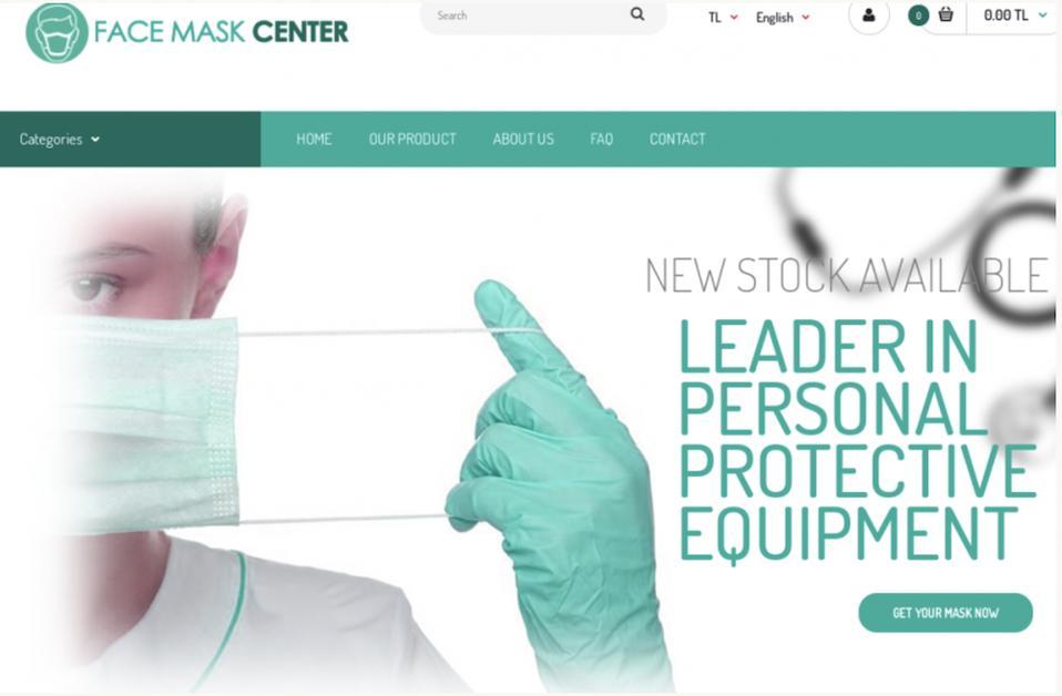 Facemask.com website