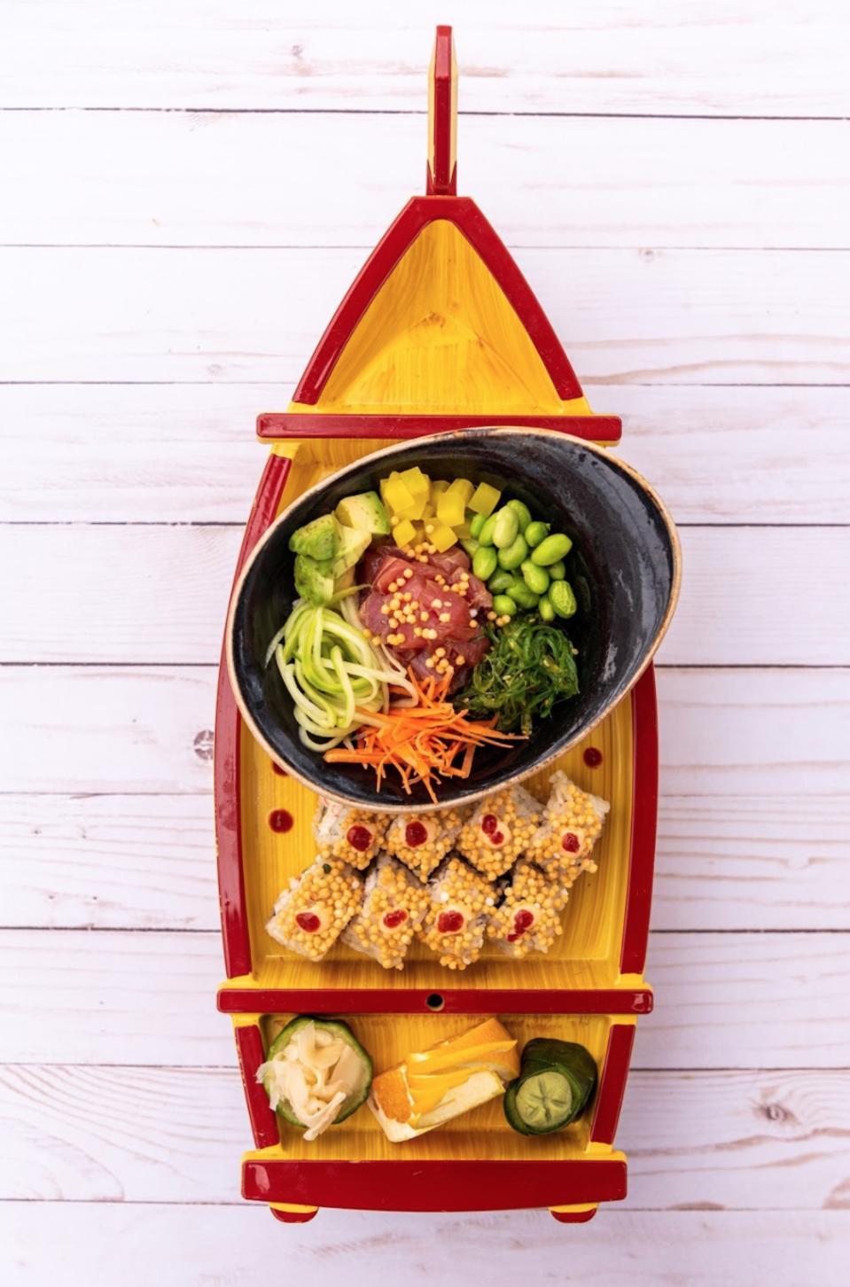 Poke bowl & sushi