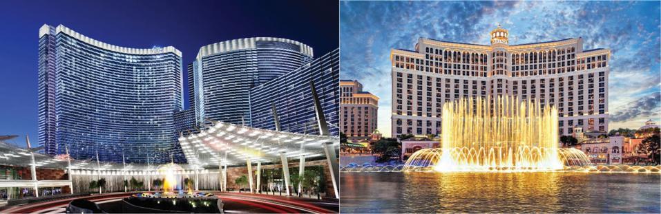 Las Vegas Aria and Bellagio hotels.