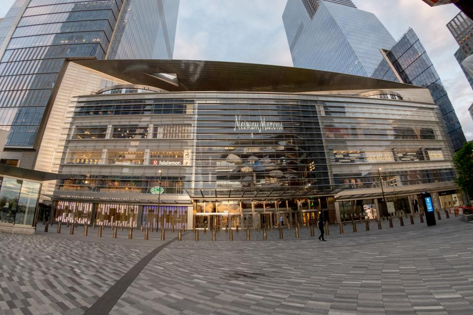 The Neiman Marcus store in New York's Hudson Yards, which is closing permanently.