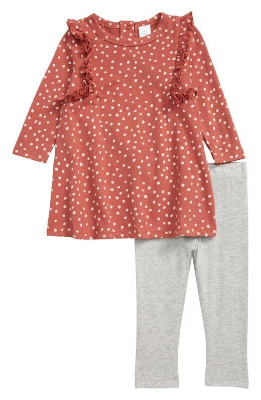 Nordstrom Ruffle Long Sleeve Dress & Leggings Set (Baby)